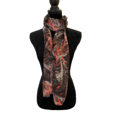 Black Feathers Scarf