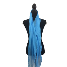 Bright Blue Silk Scarf