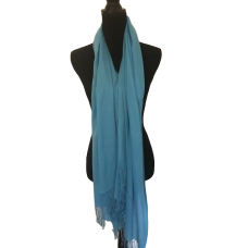Bright Blue Cashmere Scarf
