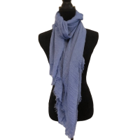 Slate Blue Cotton Scarf