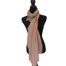 Latte Large Cotton Scarf