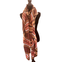 Earthy Plaid Knit Blanket Scarf