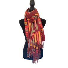 Rusty Coloured Fleece Blanket Scarf
