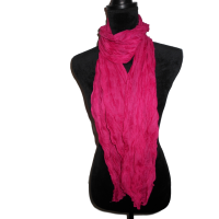 Hot Pink Crushed Scarf