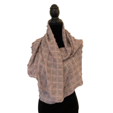 Grey and Pink Scarf Bobble Scarf