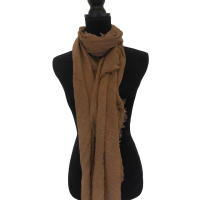 Chocolate Large Cotton Scarf