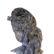 Men's Dark Blue Check Scarf