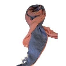 Men's Pale Blue and Peach Scarf