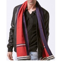 Red and Blue Men's Wool Scarf