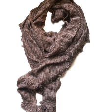 Men's Brown Cotton Scarf