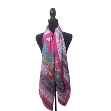 Cerise Multicoloured Scarf