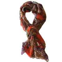 Orange Multicoloured Scarf