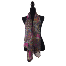 Pink Cerise Multicoloured Scarf