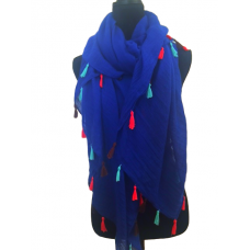 Royal Blue Scarf Oversized