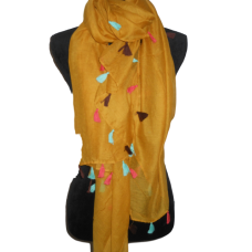 Mustard  Scarf with Tassels