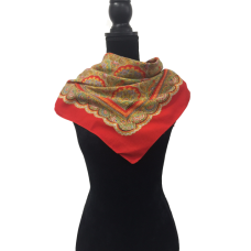 Vintage Red Paisley Scarf