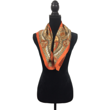 Vintage Scarf Orange and Brown