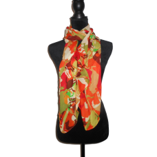 Vibrant Orange and Green Scarf