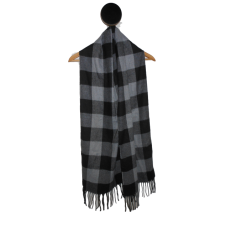 Men's Grey Check Cashmere Scarf