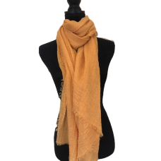 Orange Gold Cotton Scarf